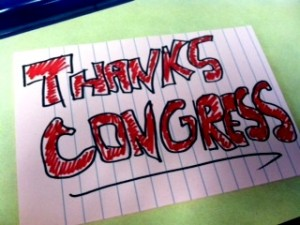 Thanks, Congress! I love pink.
