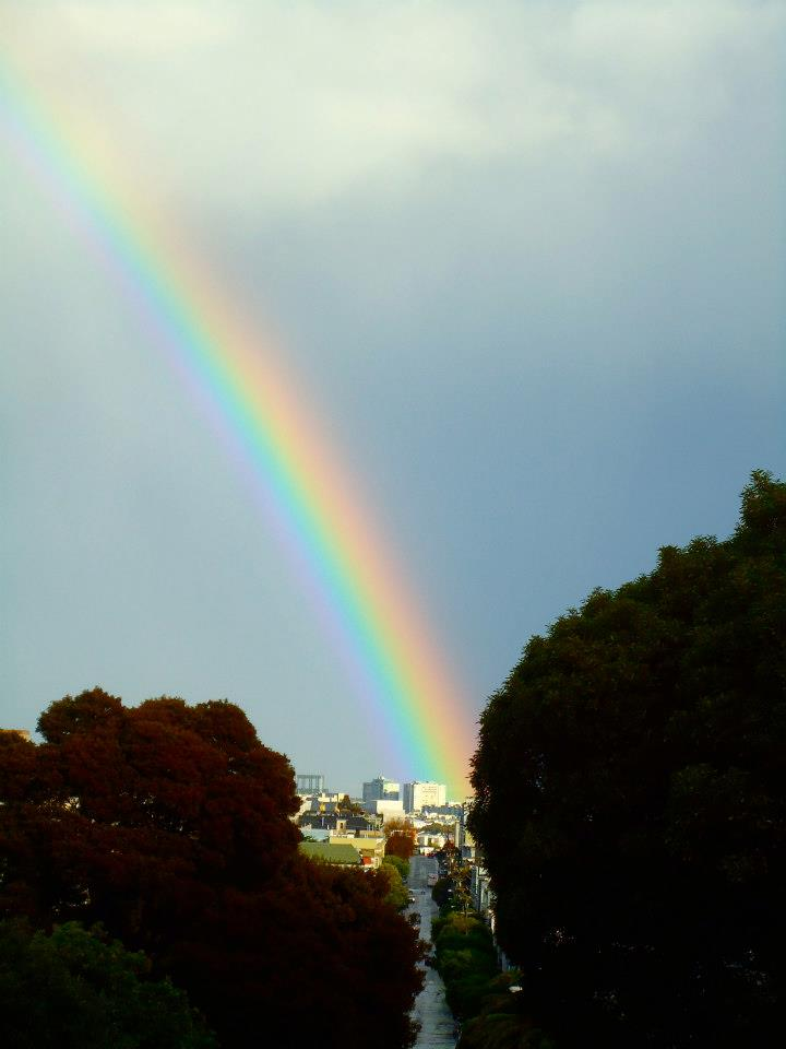 Couldn't beat a rainbow in San Francisco. Much less the double rainbow we saw later that day.