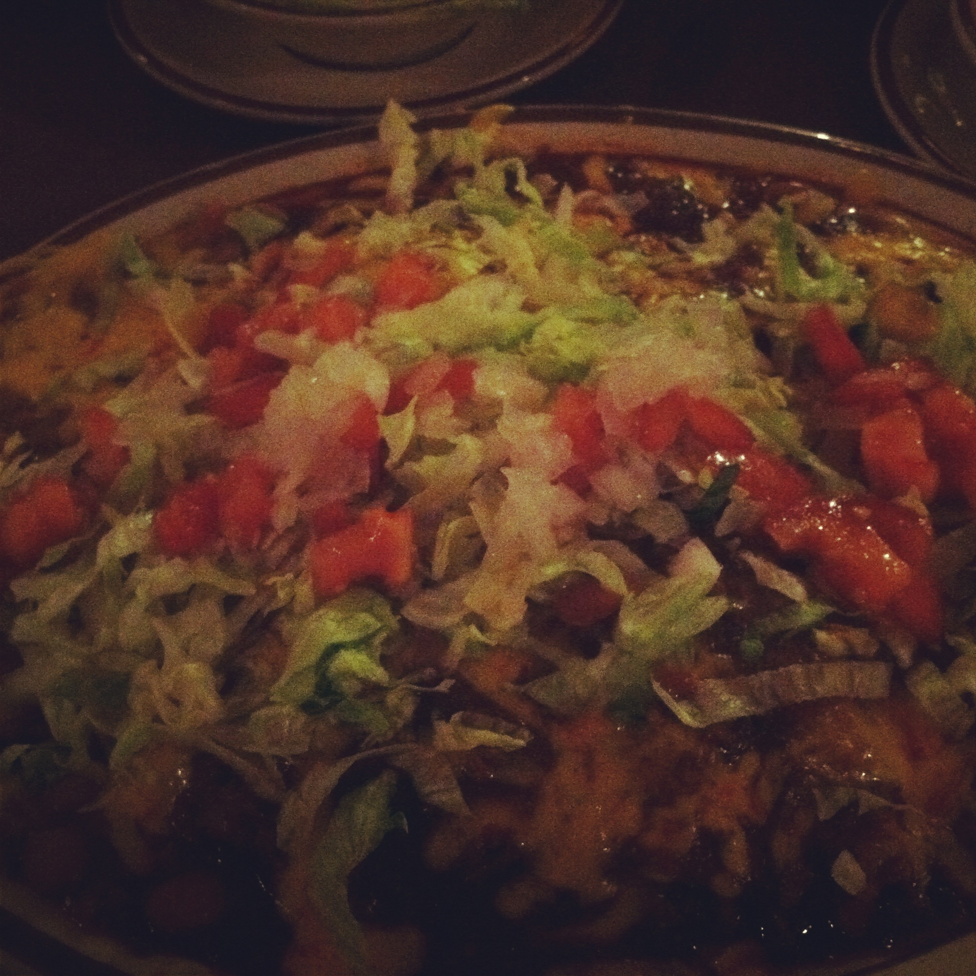 Hot, spicy Mexican food. Mmmmm.