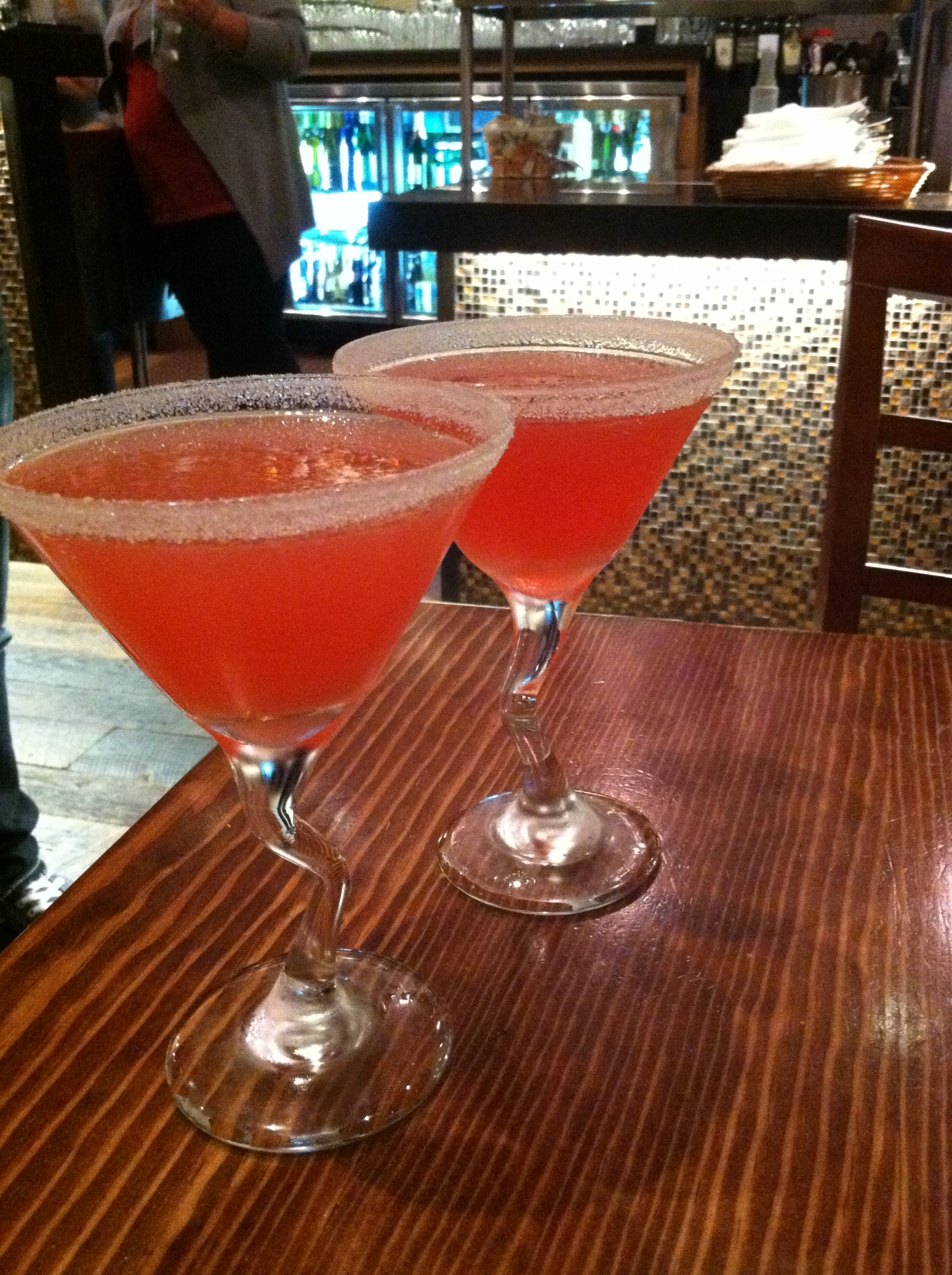 Sweet Tart martinis at Fork. Um, yes.