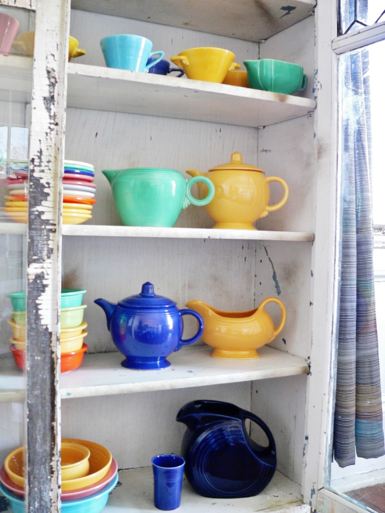 Pops of color, courtesy of our ever-expanding Fiestaware collection.