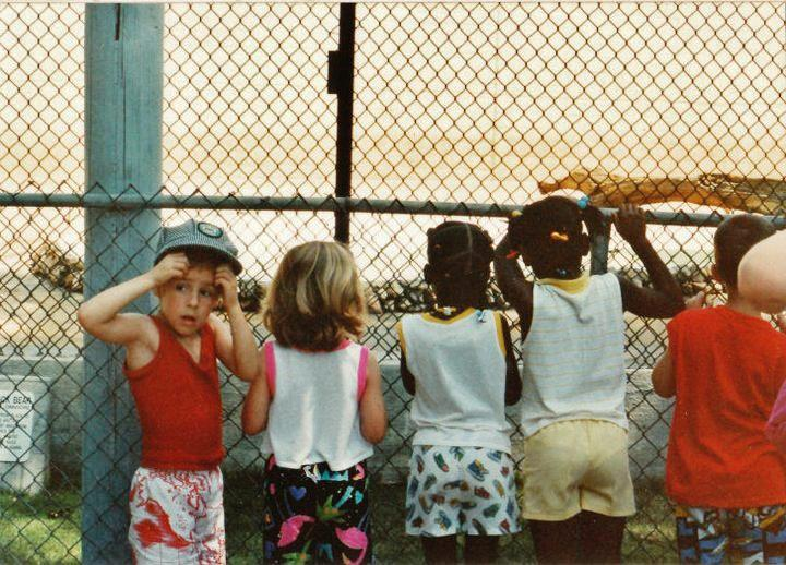 Either I was terrified of the bears, or grossed out by the tiny hands clutching the fence. Or hungry. Whatever, I was an anxious child.