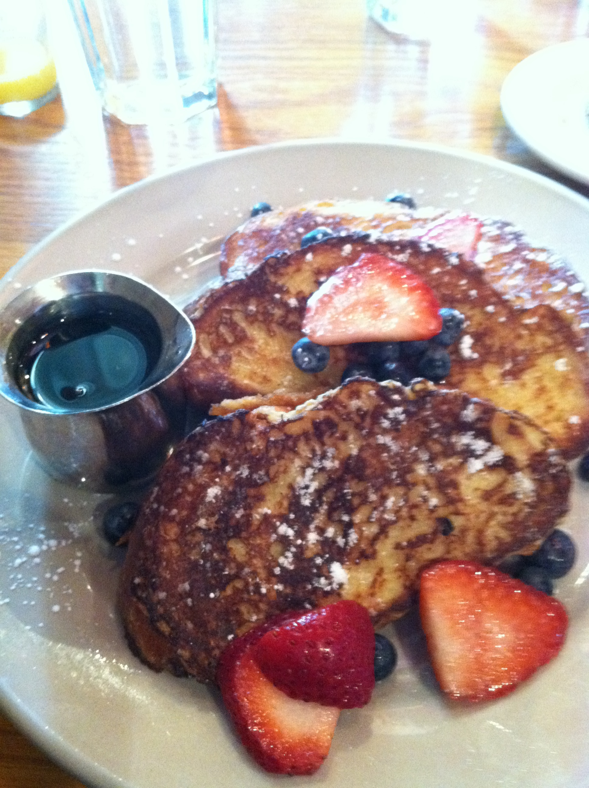 Irregardless Cafe's Challah French Toast. Yum.