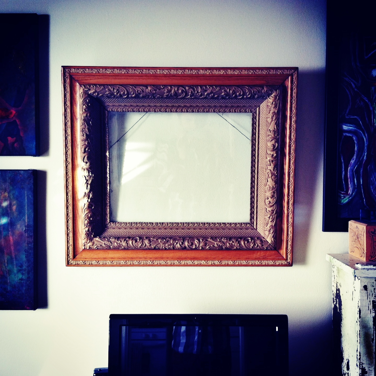 A New Year -- an empty frame.