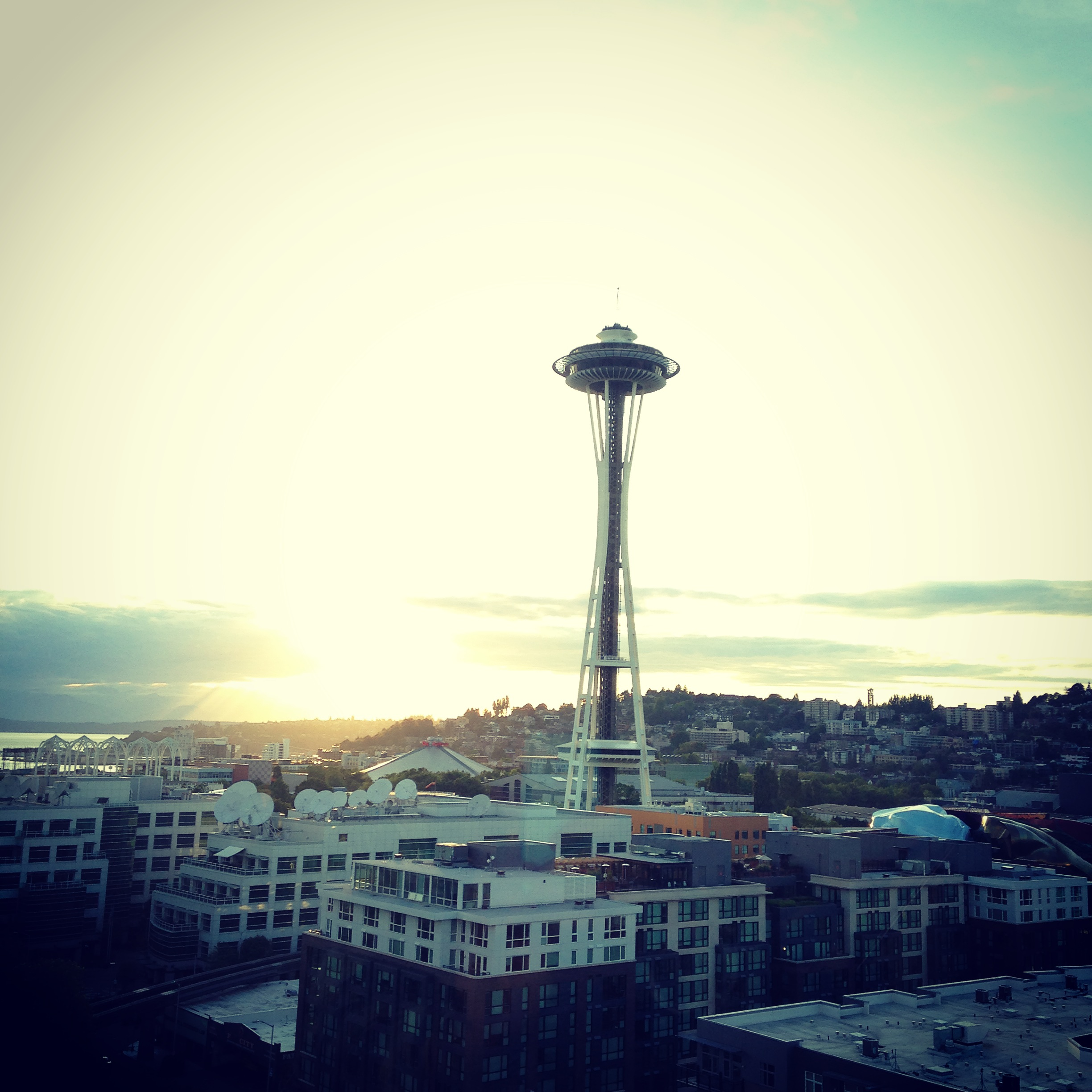 Under the Seattle sun...the view from my s-i-l's apt!